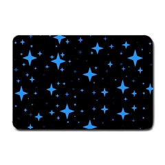 Bright Blue  Stars In Space Small Doormat  by Costasonlineshop