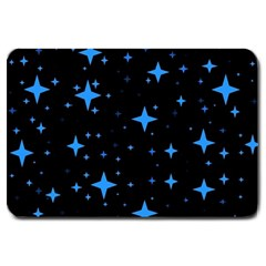 Bright Blue  Stars In Space Large Doormat  by Costasonlineshop