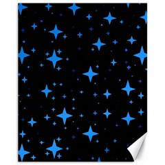 Bright Blue  Stars In Space Canvas 11  X 14   by Costasonlineshop
