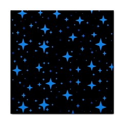 Bright Blue  Stars In Space Face Towel by Costasonlineshop