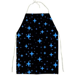 Bright Blue  Stars In Space Full Print Aprons