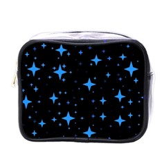Bright Blue  Stars In Space Mini Toiletries Bags by Costasonlineshop