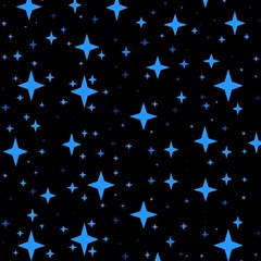 Bright Blue  Stars In Space Magic Photo Cubes by Costasonlineshop