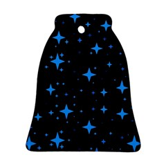 Bright Blue  Stars In Space Ornament (bell)
