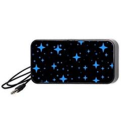 Bright Blue  Stars In Space Portable Speaker (black)  by Costasonlineshop