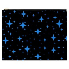 Bright Blue  Stars In Space Cosmetic Bag (xxxl)  by Costasonlineshop