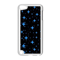Bright Blue  Stars In Space Apple Ipod Touch 5 Case (white) by Costasonlineshop