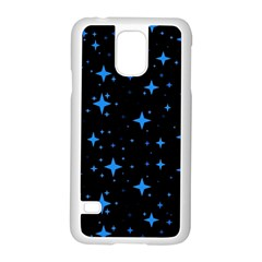 Bright Blue  Stars In Space Samsung Galaxy S5 Case (white)