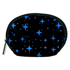 Bright Blue  Stars In Space Accessory Pouches (medium)  by Costasonlineshop