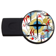 Compass 4 Usb Flash Drive Round (2 Gb)  by Valentinaart