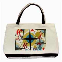 Compass 4 Basic Tote Bag (two Sides) by Valentinaart
