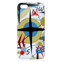 Compass 4 Apple Iphone 5 Premium Hardshell Case by Valentinaart
