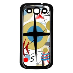 Compass 4 Samsung Galaxy S3 Back Case (black) by Valentinaart