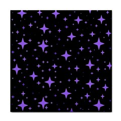 Bright Purple   Stars In Space Tile Coasters