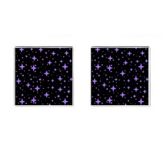 Bright Purple   Stars In Space Cufflinks (square) by Costasonlineshop