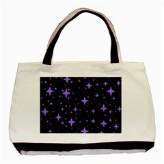 Bright Purple   Stars In Space Basic Tote Bag by Costasonlineshop
