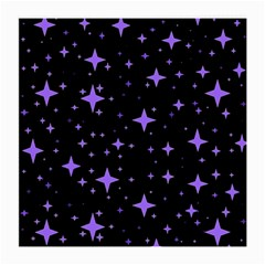 Bright Purple   Stars In Space Medium Glasses Cloth (2 Side) by Costasonlineshop