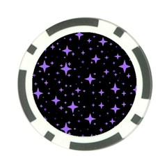 Bright Purple   Stars In Space Poker Chip Card Guards