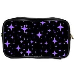 Bright Purple   Stars In Space Toiletries Bags
