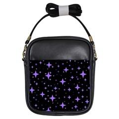 Bright Purple   Stars In Space Girls Sling Bags by Costasonlineshop
