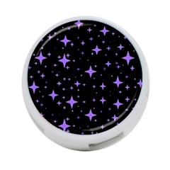 Bright Purple   Stars In Space 4 Port Usb Hub (two Sides)  by Costasonlineshop