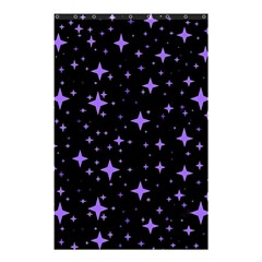 Bright Purple   Stars In Space Shower Curtain 48  X 72  (small)  by Costasonlineshop