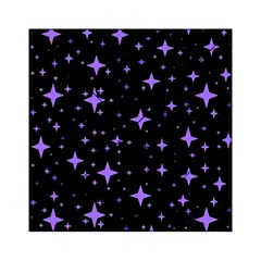 Bright Purple   Stars In Space Acrylic Tangram Puzzle (6  X 6 ) by Costasonlineshop