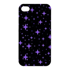Bright Purple   Stars In Space Apple Iphone 4/4s Premium Hardshell Case by Costasonlineshop