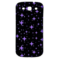 Bright Purple   Stars In Space Samsung Galaxy S3 S Iii Classic Hardshell Back Case by Costasonlineshop