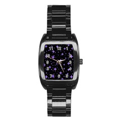 Bright Purple   Stars In Space Stainless Steel Barrel Watch