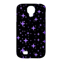 Bright Purple   Stars In Space Samsung Galaxy S4 Classic Hardshell Case (pc+silicone)