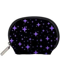 Bright Purple   Stars In Space Accessory Pouches (small)