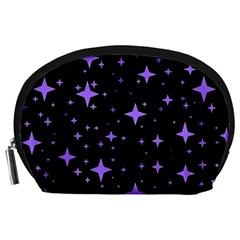 Bright Purple   Stars In Space Accessory Pouches (large)