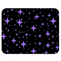 Bright Purple   Stars In Space Double Sided Flano Blanket (medium)