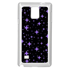 Bright Purple   Stars In Space Samsung Galaxy Note 4 Case (white)