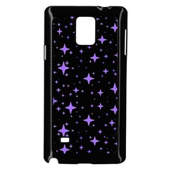 Bright Purple   Stars In Space Samsung Galaxy Note 4 Case (black)