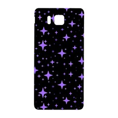 Bright Purple   Stars In Space Samsung Galaxy Alpha Hardshell Back Case by Costasonlineshop