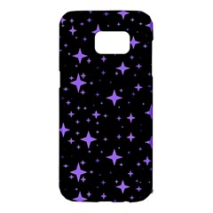 Bright Purple   Stars In Space Samsung Galaxy S7 Edge Hardshell Case