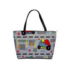 Toy Cars Shoulder Handbags by Valentinaart