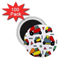 Toy Cars Pattern 1 75  Magnets (100 Pack)  by Valentinaart