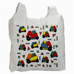 Toy Cars Pattern Recycle Bag (two Side)