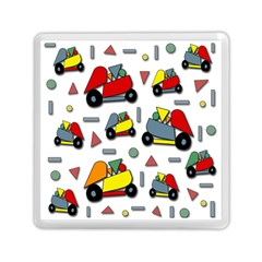 Toy Cars Pattern Memory Card Reader (square)  by Valentinaart