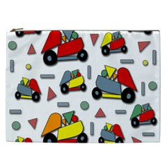 Toy Cars Pattern Cosmetic Bag (xxl)  by Valentinaart