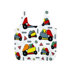 Toy Cars Pattern Full Print Recycle Bags (s)  by Valentinaart