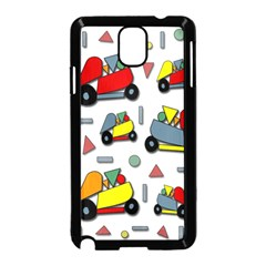 Toy Cars Pattern Samsung Galaxy Note 3 Neo Hardshell Case (black) by Valentinaart