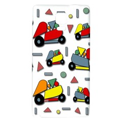 Toy Cars Pattern Galaxy Note 4 Back Case by Valentinaart