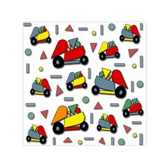 Toy Cars Pattern Small Satin Scarf (square) by Valentinaart