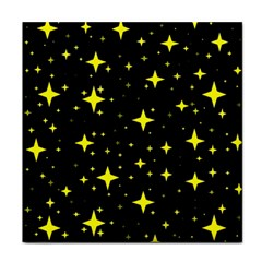 Bright Yellow   Stars In Space Tile Coasters
