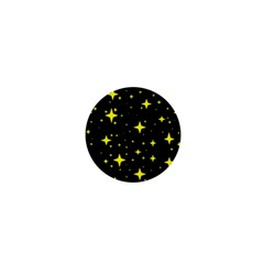 Bright Yellow   Stars In Space 1  Mini Buttons