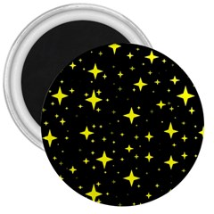 Bright Yellow   Stars In Space 3  Magnets
